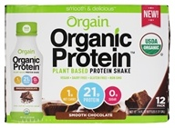 Orgain - Organic Protein Plant Based RTD Protein Shake 21g Smooth Chocolate - 12 Bottle(s)