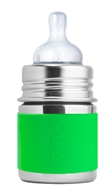 Pura - Stainless Steel Infant Bottle Green Sleeve - 5 oz.