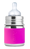 Pura - Stainless Steel Infant Bottle Pink Sleeve - 5 oz.