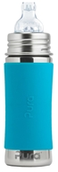 Pura - Stainless Steel Infant Bottle Aqua Sleeve - 11 oz.
