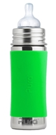 Pura - Stainless Steel Infant Bottle Green Sleeve - 11 oz.