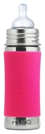 Pura - Stainless Steel Infant Bottle Pink Sleeve - 11 oz.
