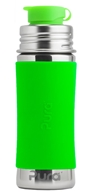 Pura - Stainless Steel Sport Jr. Bottle Green Sleeve - 11 oz.