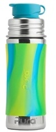 Pura - Stainless Steel Sport Jr. Bottle Aqua Swirl Sleeve - 11 oz.