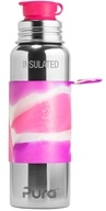 Pura - Stainless Steel Vacuum Insulated Sport Bottle Pink Swirl Sleeve - 22 oz.