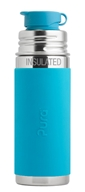 Pura - Stainless Steel Vacuum Insulated Sport Jr. Bottle Aqua Sleeve - 9 oz.