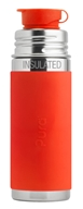 Pura - Stainless Steel Vacuum Insulated Sport Jr. Bottle Orange Sleeve - 9 oz.