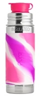 Pura - Stainless Steel Vacuum Insulated Sport Jr. Bottle Pink Swirl Sleeve - 9 oz.
