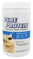 Pure Protein - Natural Whey Protein French Vanilla - 1.6 lb.