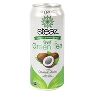 Steaz - Lightly Sweetened Iced Green Tea With Coconut Water - 16 oz.