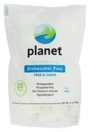 Planet Inc. - Automatic Dishwasher Pacs Free & Clear - 20 Pack(s)