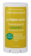 Green Goo - 100% All Natural High Performance Deodorant Unscented - 2.2 oz.