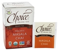 Choice Organic Teas - Masala Chai Black Tea - 16 Tea Bags