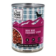 I And Love And You - Canned Dog Food Moo Moo Venison Stew Beef + Venison in a Savory Stew - 13 oz.