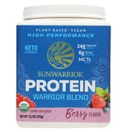Warrior Blend Plant-Based Organic High Performance Protein Powder Berry - 375 Grams