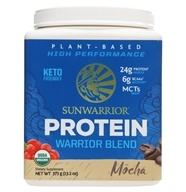 Sunwarrior - Warrior Blend Plant-Based Organic Protein Mocha - 375 Grams