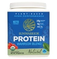 Warrior Blend Plant-Based Organic High Performance Protein Powder Natural - 375 Grams