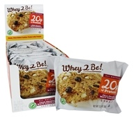 Whey 2 Be - All Natural Protein Cookie Cran-Orange White Chocolate - 12 Cookies