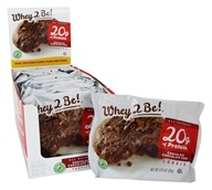 Whey 2 Be - All Natural Protein Cookie Chocolate Chocolate Chip - 12 Cookies