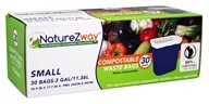 NatureZway - Small 3 Gallon Compostable Waste Bags - 30 Bags