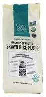 Organic Sprouted Brown Rice Flour - 24 oz. by One Degree Organic Foods