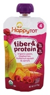 HappyFamily - HappyTot Organic Stage 4 Fiber & Protein Pouch Pears, Raspberries, Butternut Squash & Carrots - 4 oz.