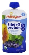 HappyFamily - HappyTot Organic Stage 4 Fiber & Protein Pouch Pears, Blueberries & Spinach - 4 oz.