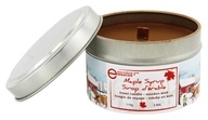 Travel Tin Candle Wooden Wick Maple Syrup - 3.8 oz. by Seracon