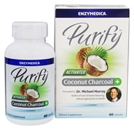 Enzymedica - Purify Activated Coconut Charcoal+ - 60 Capsules