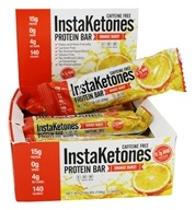 InstaKetone Protein Bars Box Orange Burst - 12 Barras