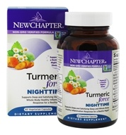 Nighttime da força de cúrcuma - 60 Vegetarian Capsules by New Chapter
