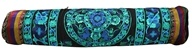 Hand Embroidered Bokhara Yoga Mat Bag Black/Turquoise by Relaxus