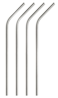 Stainless Steel Drinking Straws - 4 Pack by Harold Import