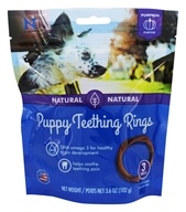 NBone - Puppy Teething Rings Dog Treat Pumpkin Flavor - 3 Pack