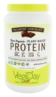 VegiDay - Raw Organic Plant-Based Protein Powder Decadent Chocolate - 34.28 oz.