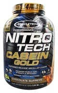 Nitro-Tech Performance Series Casein Gold Powder Bonus Size Chocolate Supreme - 5.02 lbs. by Muscletech Products