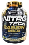 Nitro-Tech Performance Series Casein Gold Powder Bonus Size Creamy Vanilla - 5 lbs. by Muscletech Products