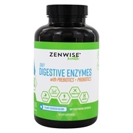 Zenwise Health - Daily Digestive Enzymes with Prebiotics + Probiotics - 180 Vegetarian Capsules