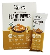 22 Days Nutrition - Plant Power Protein Bar Chunky Peanut Butter - 4 Pack