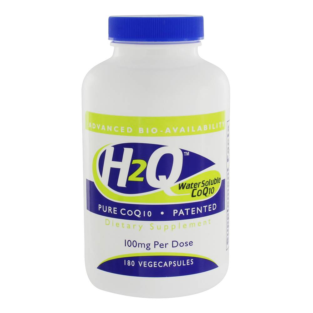 H2Q Water Soluble CoQ10 100 mg. - 180 Vegetable Capsule(s)
