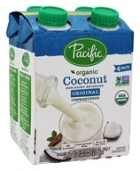 Pacific Foods - Organic Coconut Milk Unsweetened 8 oz. Original - 4 Pack