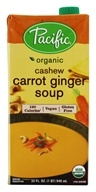 Organic Cashew Carrot Ginger Soup - 32 fl. oz. by Pacific Foods