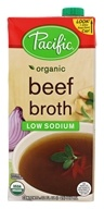 Organic Beef Broth Low Sodium - 32 fl. oz. by Pacific Foods