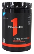 R1 Pre Train 2.0 High Intensity Pre-Workout Formula Powder 25 Servings Blue Raspberry - 390 Grams by Rule One Proteins