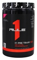R1 Pre Train 2.0 High Intensity Pre-Workout Formula Powder 25 Servings Fruit Punch - 390 Grams by Rule One Proteins