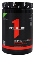 R1 Pre Train 2.0 High Intensity Pre-Workout Formula Powder 25 Servings Candy Apple - 390 Grams by Rule One Proteins