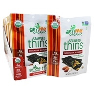 Organic Seaweed Thins Sriracha Almond - 12 Pack
