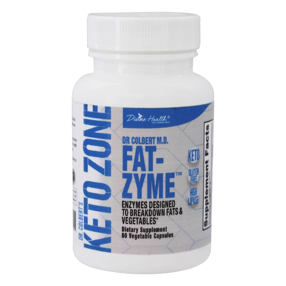 Dr. Colbert Keto Zone Fedt-Zyme - 60 Vegetable Capsule(s) by Divine Health