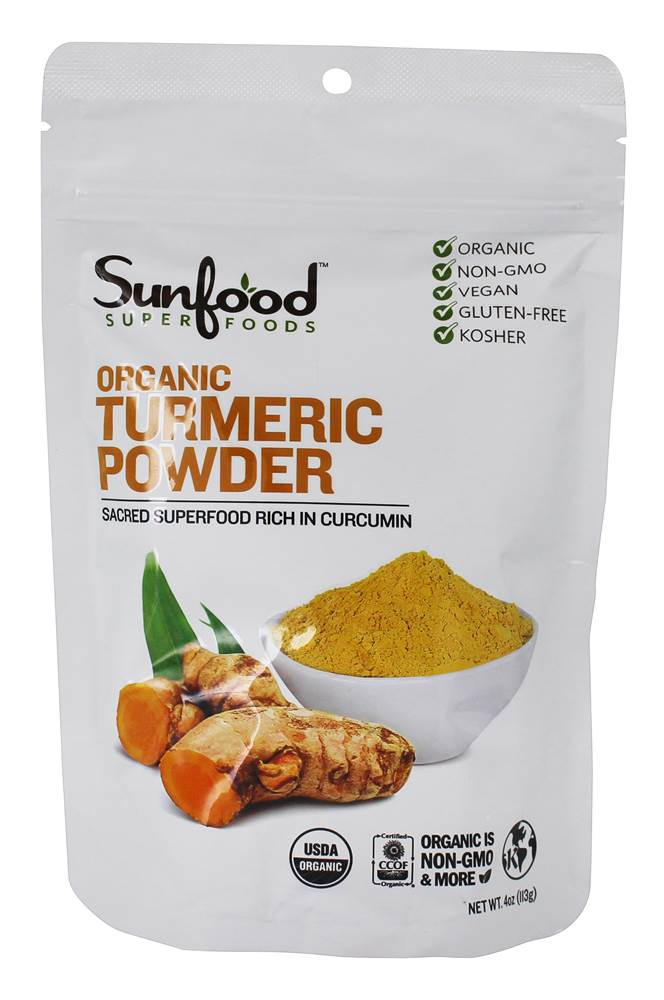 Sunfood Superfoods - Organic Turmeric Powder - 4 oz.
