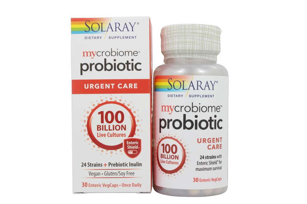 Mycrobiome Probiotic + Prebiotic Inulin Urgent Care 100 Billion CFU - 30 Vegetable Capsule(s)